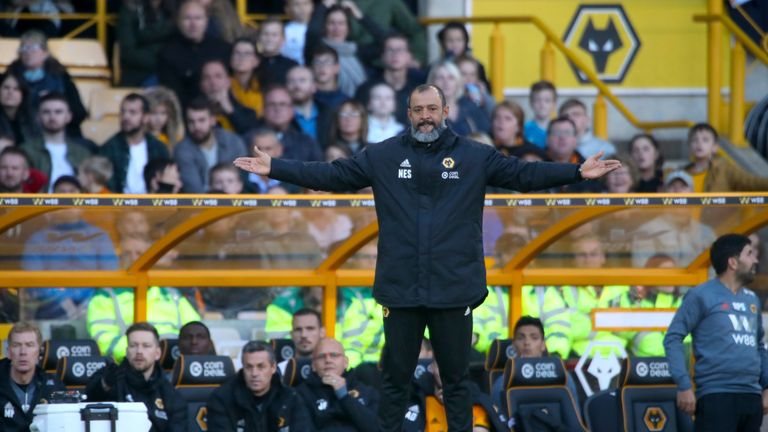 Nuno Espirito Santo during Wolves v Watford