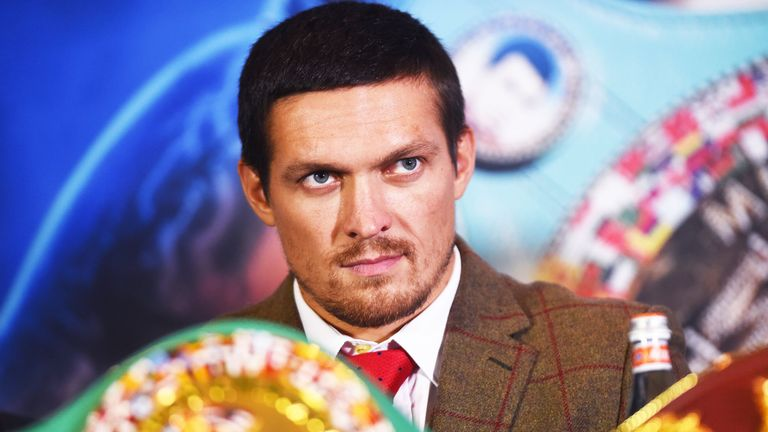 Oleksandr Usyk has followed Anthony Joshua's career with interest