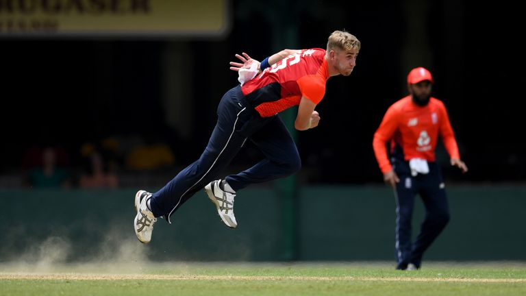 Stone bowled in England's warm-up game against the Sri Lanka Cricket Board XI in Colombo last week