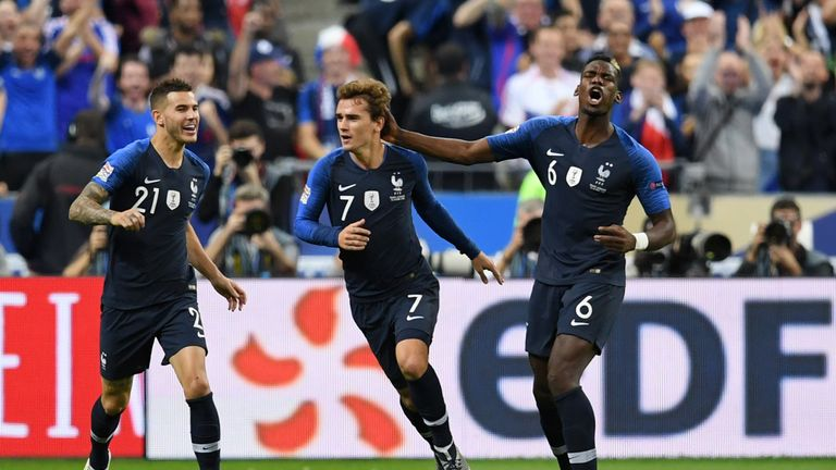 Pogba played in France's recent win over Netherlands and draws with Germany and Iceland.