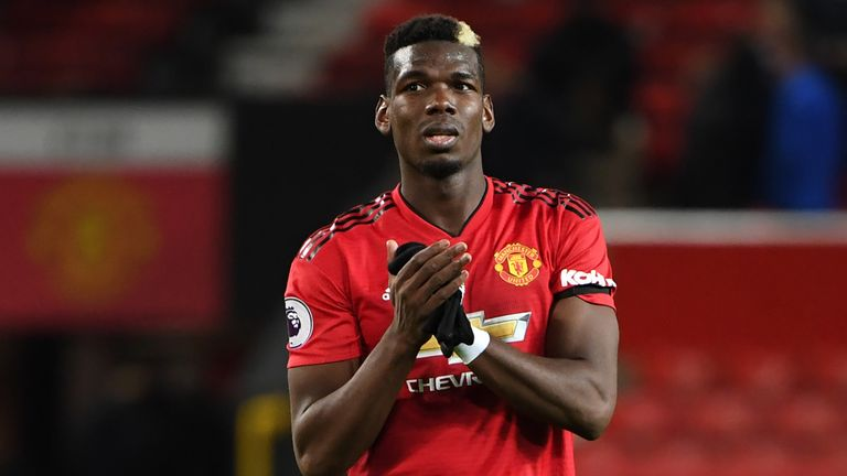 Paul Pogba has five goals in 13 games for Manchester United this season