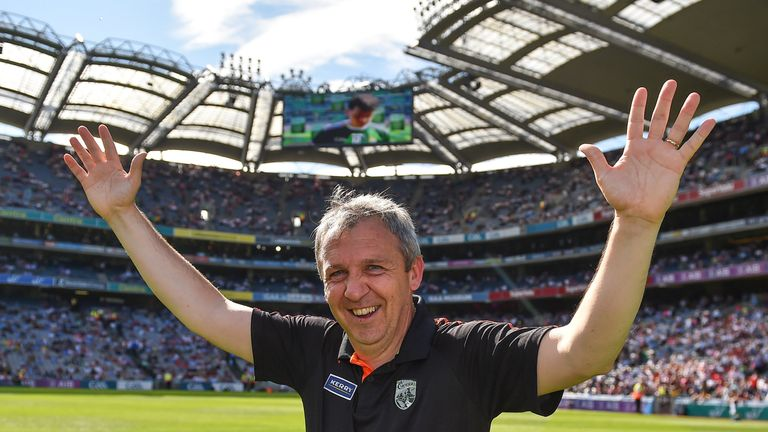 Peter Keane celebrates following the All-Ireland minor final last month