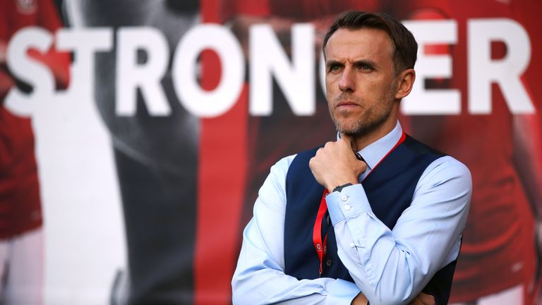 England Women manager Phil Neville