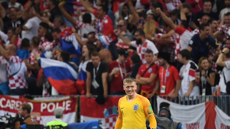 Pickford feels he earned the No 1 shirt for England during the World Cup