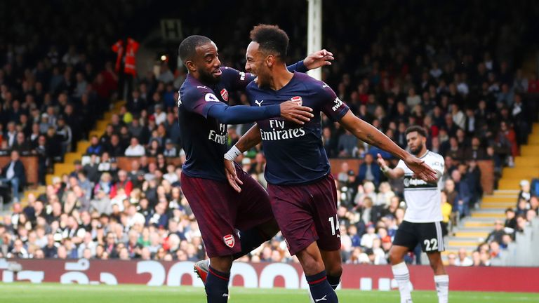 Pierre-Emerick Aubameyang and Alexandre Lacazette have been in excellent form for Arsenal