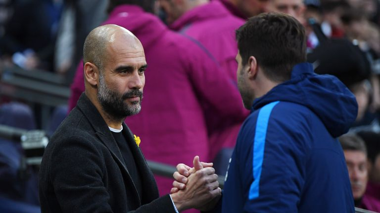 Pochettino is set to go up against Pep Guardiola on Monday, live on Sky Sports