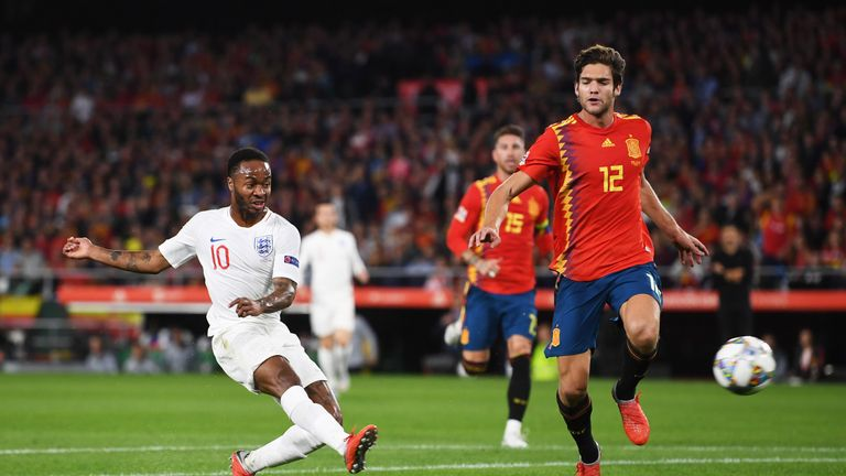 Raheem Sterling ended his international goal drought to put England ahead