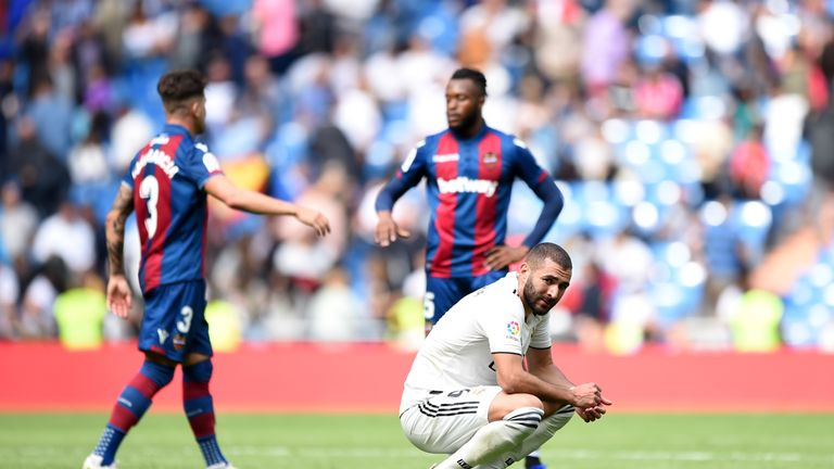 Karim Benzema reflects on the loss to Levante.