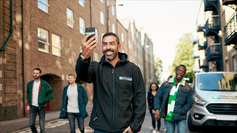 Robert Pires is working with UEFA Europa League partner Enterprise Rent-A-Car on their Legendary Journeys campaign.