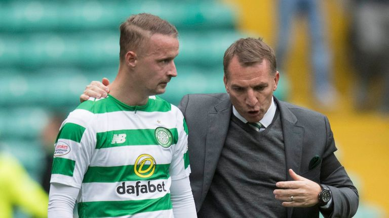 Celtic boss Brendan Rodgers has dismissed social media claims Leigh Griffiths has gone AWOL