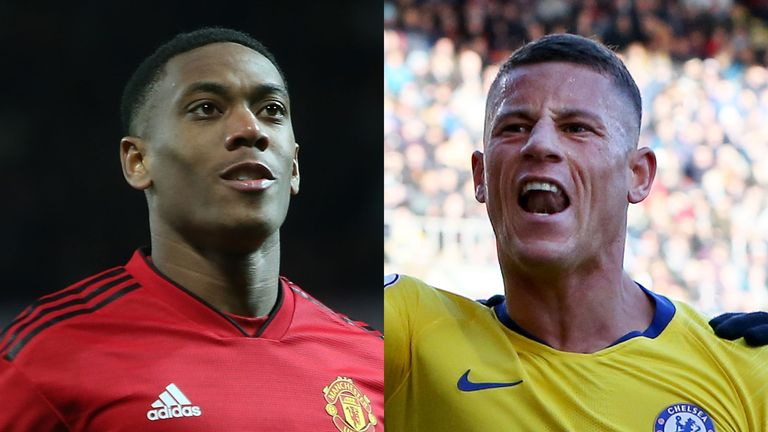 All eyes are on Anthony Martial and Ross Barkley this weekend as they look to continue their fine form