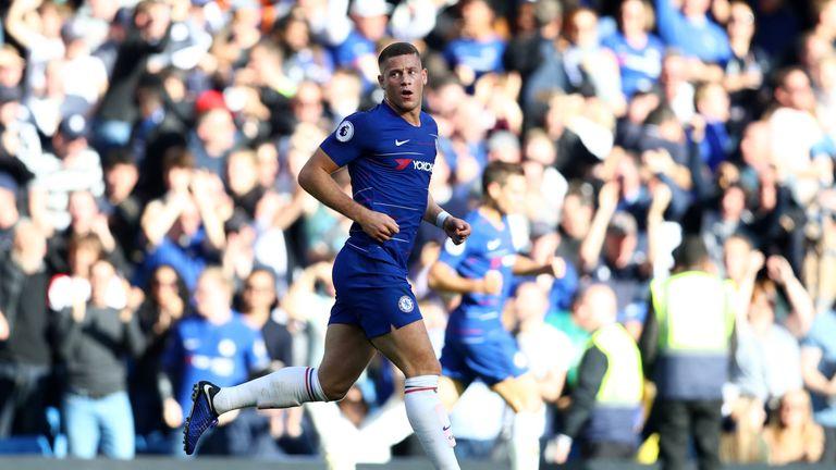 Ross Barkley scores a stoppage time equaliser for Chelsea