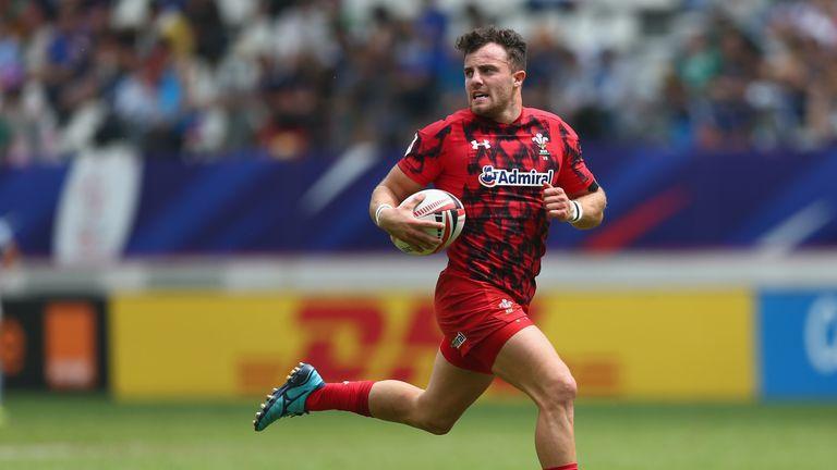 Luke Morgan in the Wales Sevens' record try scorer