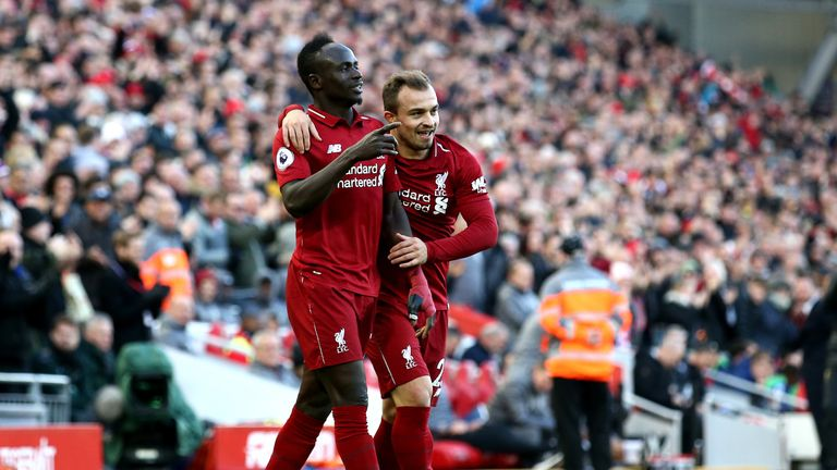 Sadio Mane has scored six Premier League goals this season