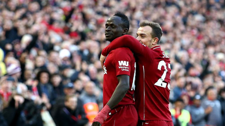 Sadio Mane scored twice as Liverpool thumped Cardiff at Anfield