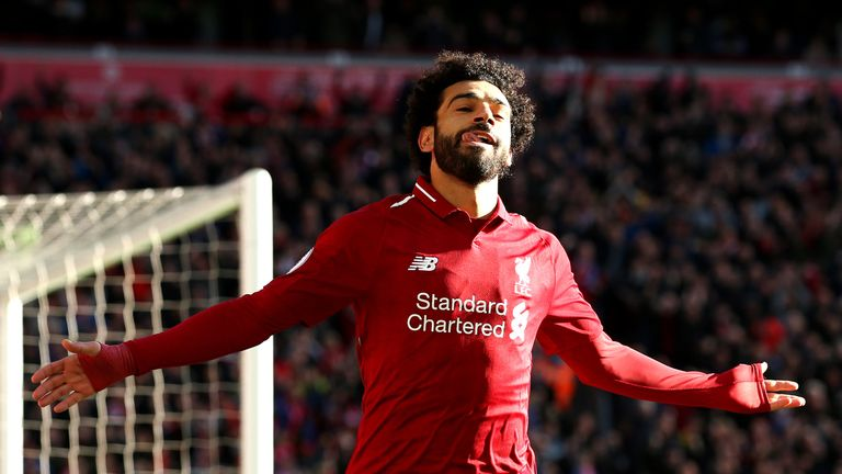 during the Premier League match between Liverpool FC and Cardiff City at Anfield on October 27, 2018 in Liverpool, United Kingdom.