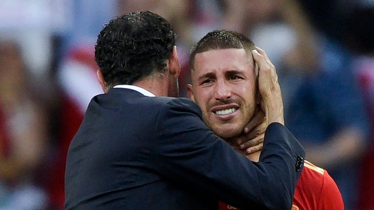 Sergio Ramos and Spain suffered World Cup heartbreak in Russia