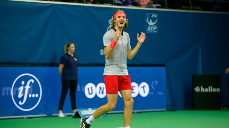 Stefanos Tsitsipas sealed the ATP Stockholm Open at the Royal Tennis Hall