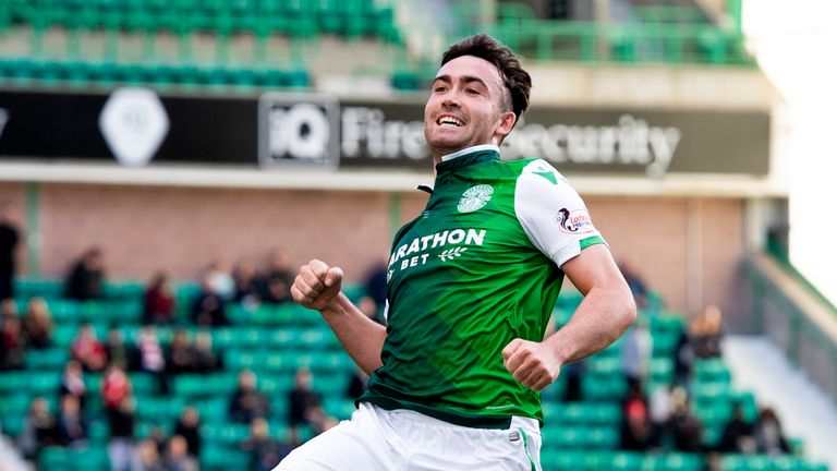 Hibernian's Stevie Mallan has notched nine goals in his 21 appearances for Hibernian from midfield this season