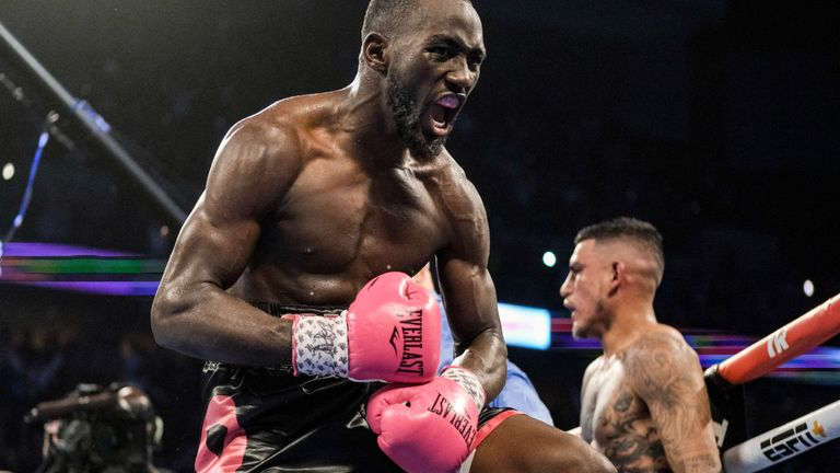Benavidez was stopped 18 seconds from the end of the fight in Crawford's home town