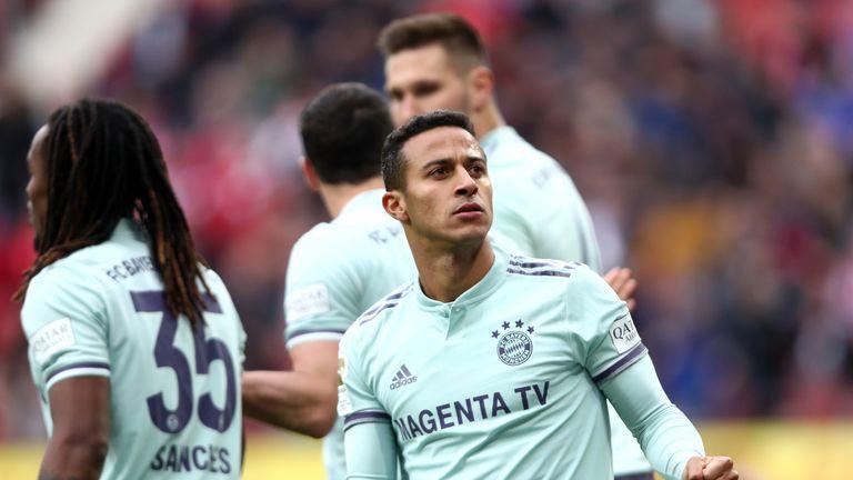 Thiago Alcantara spared Bayern Munich's blushes at Mainz
