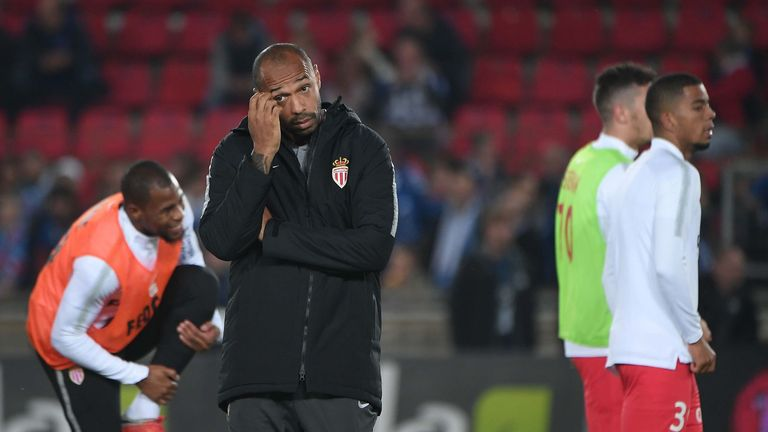 Thierry Henry loses first match in charge of Monaco