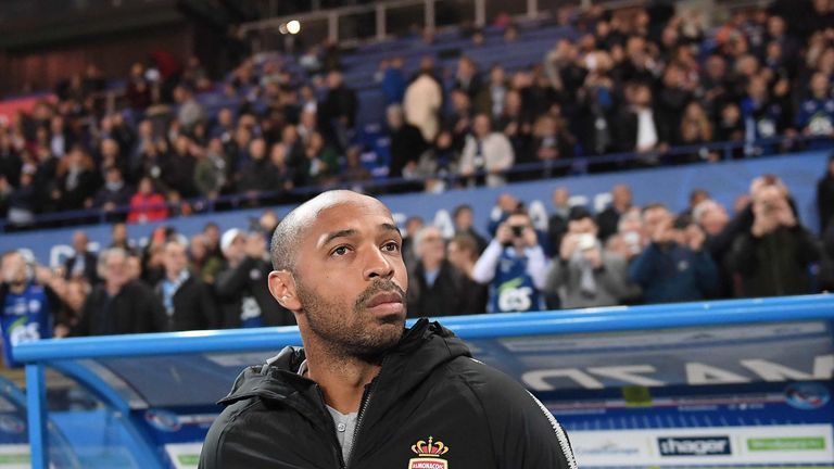 Thierry Henry's first match as Monaco head coach ended in defeat