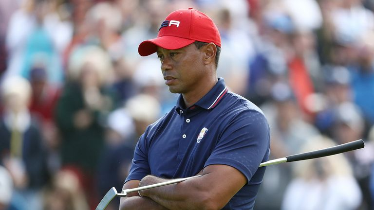 Woods failed to register a point for Team USA at Le Golf National