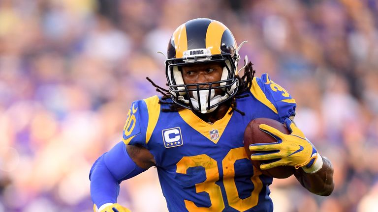 Todd Gurley is one of the Rams' offensive stars but is he fit enough to make an impact on Saturday?