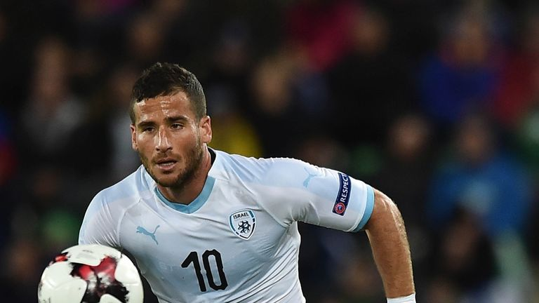 Tomer Hemed scored for Israel against Albania