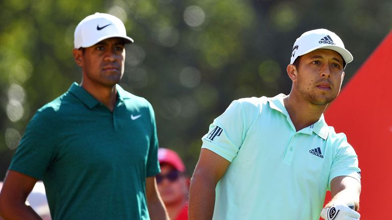 Schauffele and Finau played alongside Rose on Sunday
