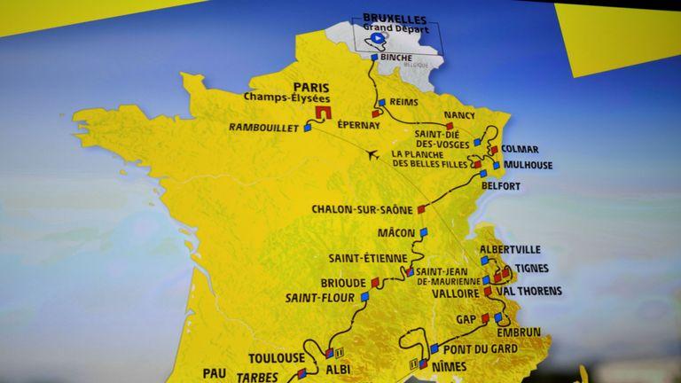 Tour de France 2019 route