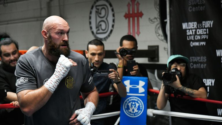 Fury is training towards his WBC title fight with Deontay Wilder