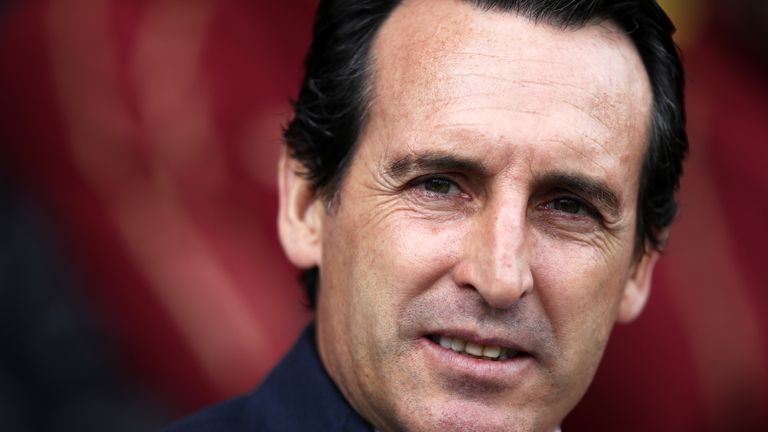 Arsenal head coach Unai Emery during the Premier League match at Craven Cottage