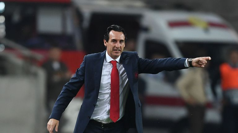 BAKU, AZERBAIJAN - OCTOBER 04: of Arsenal during the UEFA Europa League Group E match between Qarabag FK and Arsenal at  on April 10, 2018 in Baku, Azerbaijan. (Photo by Stuart MacFarlane/Arsenal FC via Getty Images)
