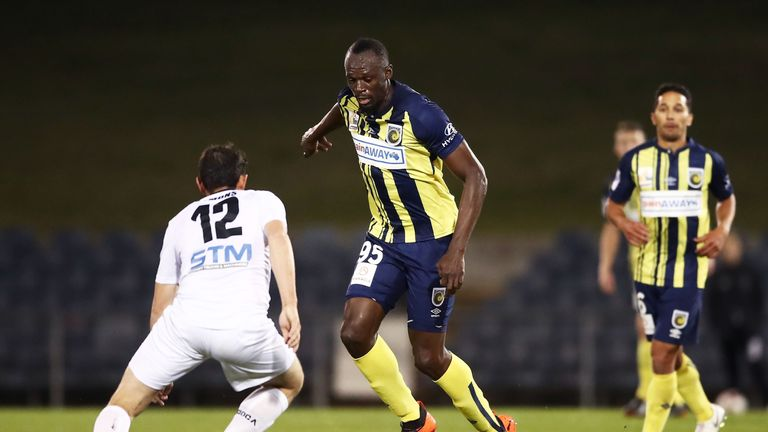 Bolt made his first start for the Australian  A-League side