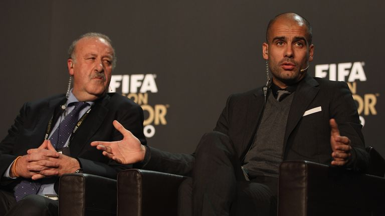 Vicent Del Bosque's Spain team played in a similar style to Pep Guardiola's Barcelona