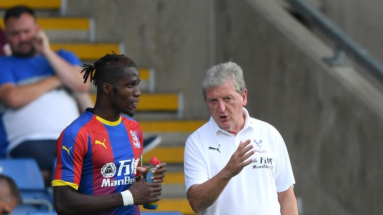 Roy Hodgson supports Wilfried Zaha over Twitter abuse | Football