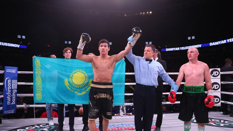 'Kazakh Thunder' Daniyar Yeleussinov, who improves his record to 4-0, will fight again in Monte Carlo on November 24
