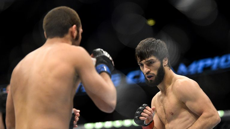 Zubaira Tukhugov (R) is scheduled to face Artem Lobov on October 27