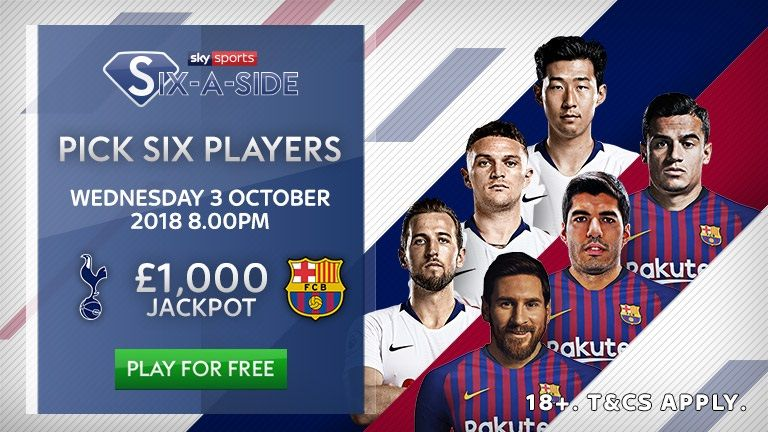 Play Sky Sports Six-a-Side for the chance to win £1k