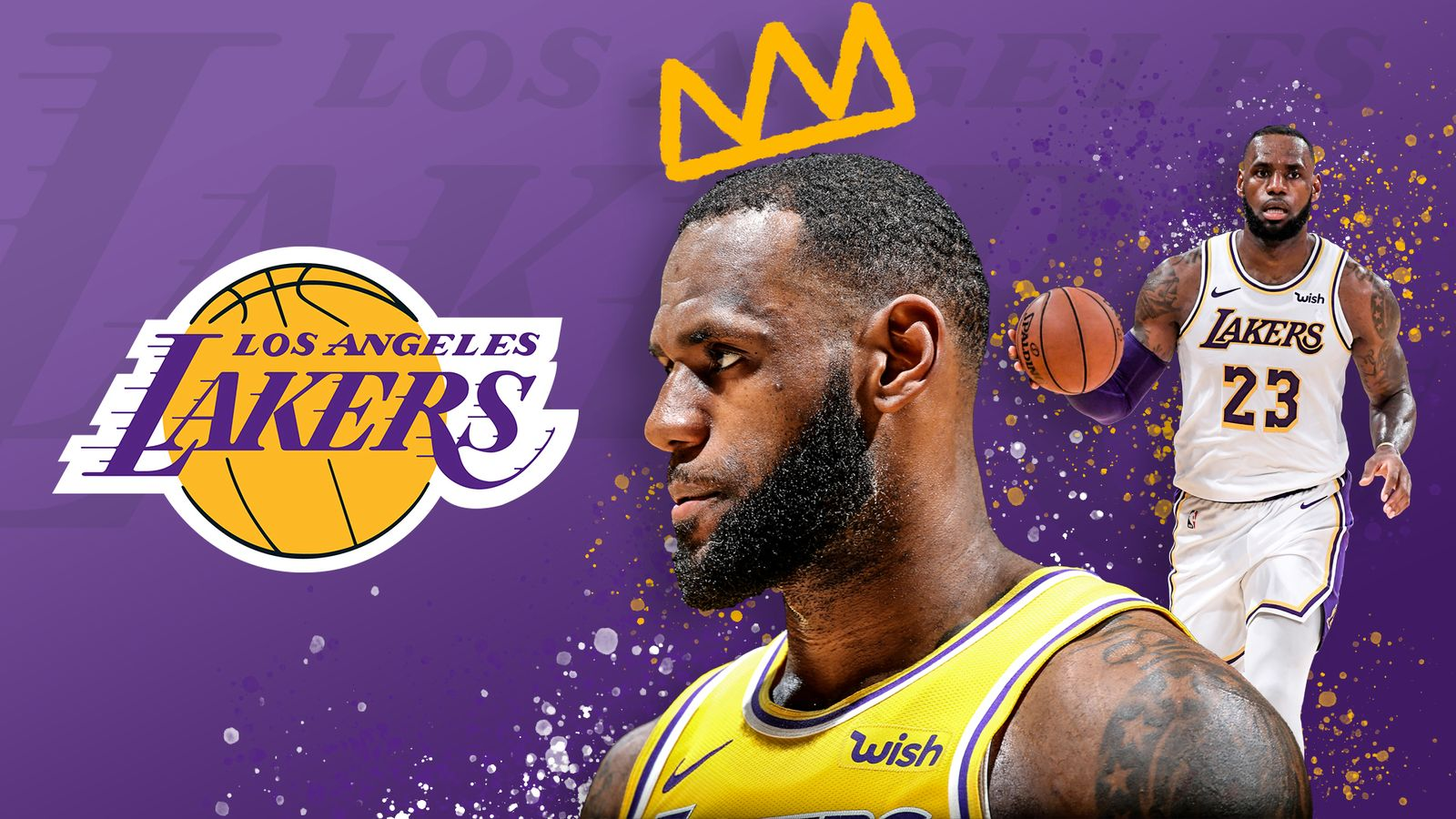 LeBron James mining rich vein of form to stabilise Los Angeles Lakers after early season woes | NBA News | Sky Sports