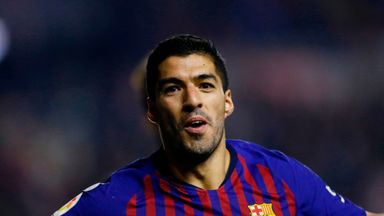 Luis Suarez will not play in the Champions League against Tottenham on Tuesday