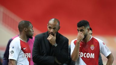 Thierry Henry's Monaco will not be in action this weekend