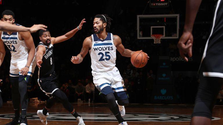 Derrick Rose scores 25 points off the bench as Minnesota Timberwolves beat Brooklyn Nets | NBA News |