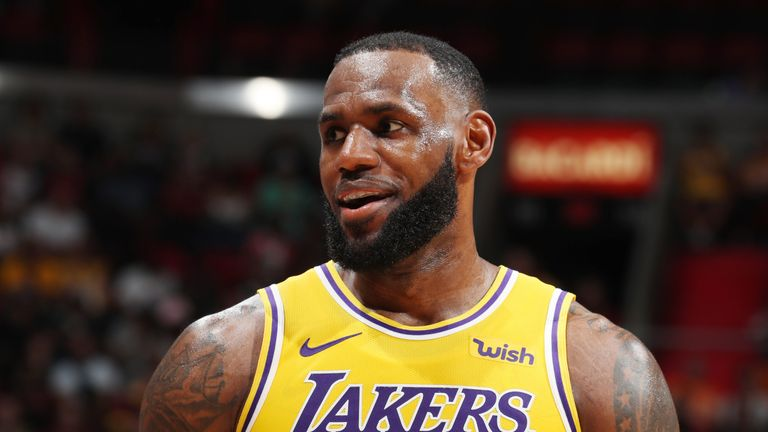 LeBron James returns to Cleveland for the first time as a Los Angeles Laker
