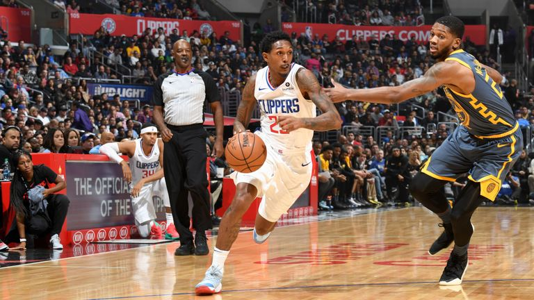Lou Williams attacks the Warriors off the dribble