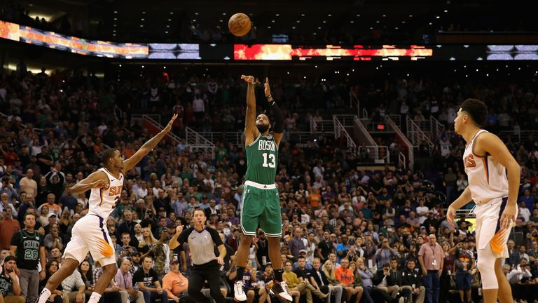 Marcus Morris sends Boston's game against Phoenix into overtime with a clutch three-pointer