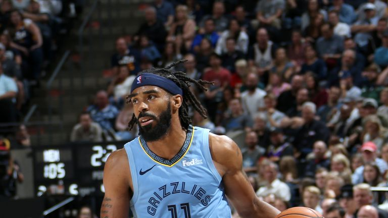 Mike Conley in action for the Memphis Grizzlies
