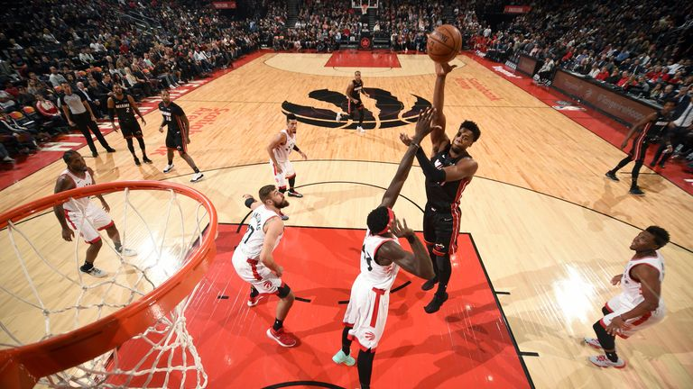 Highlights of the Toronto Raptors win against the Miami Heat